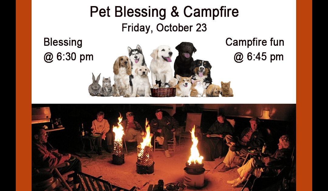 Pet Blessing & Campfire – Oct 23
