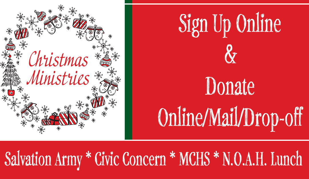Christmas Ministries – Sign Up & Donations